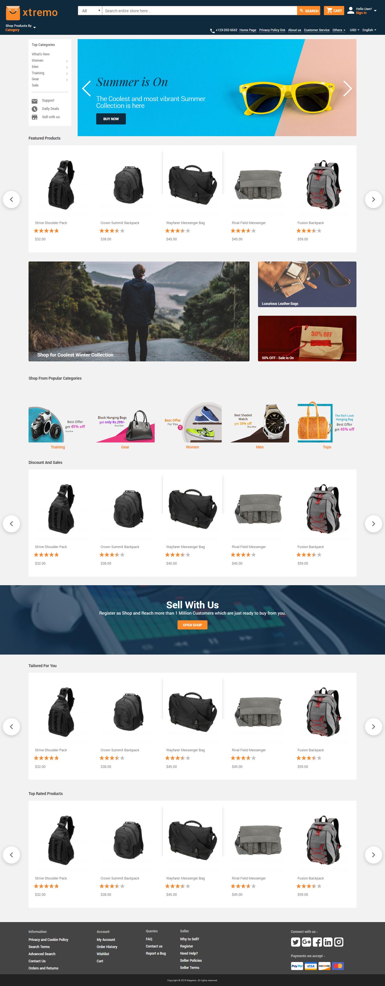 Magento 2 Multi Vendor Theme