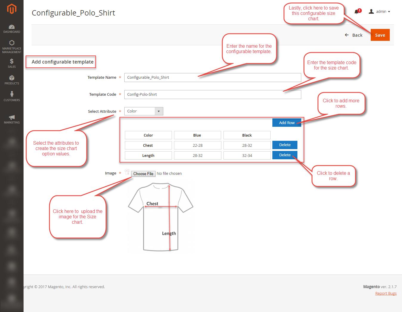 Admin-Configurable-Sizechart
