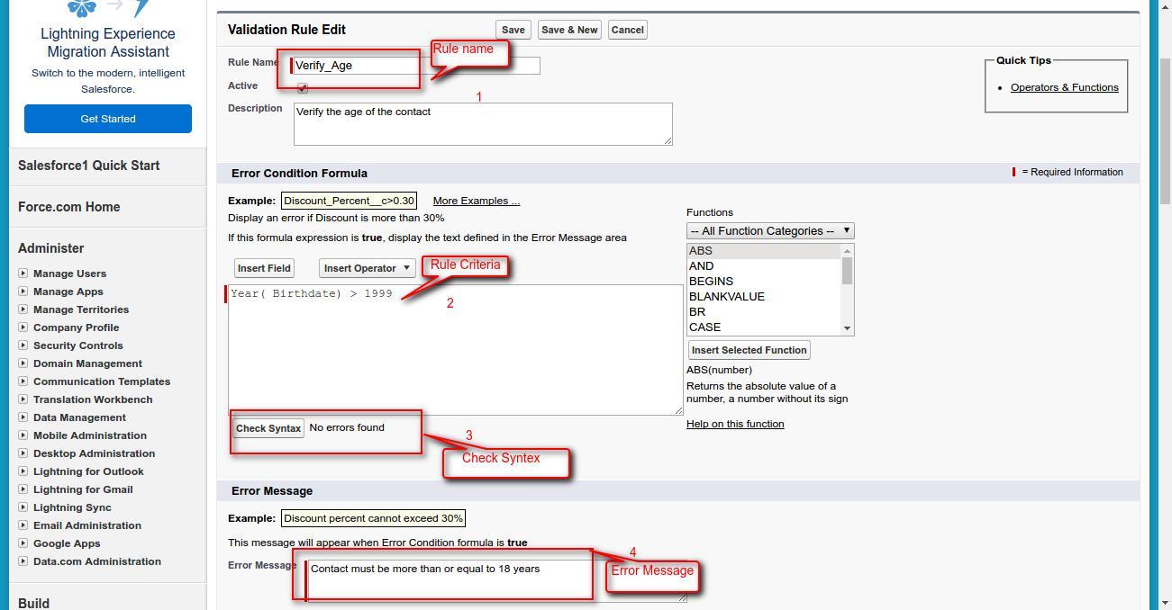 Validation Rule In Salesforce - Webkul Blog