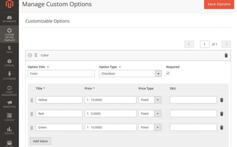 Customizable-Options