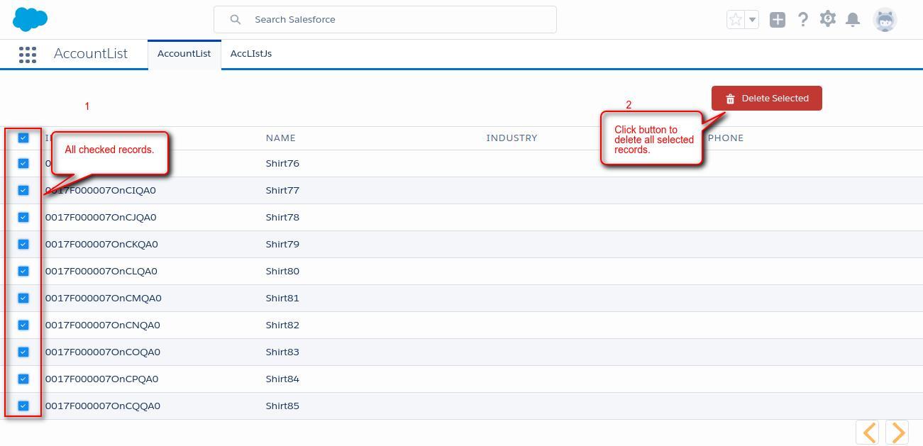 Mass Delete In Lightning Component - Webkul Blog