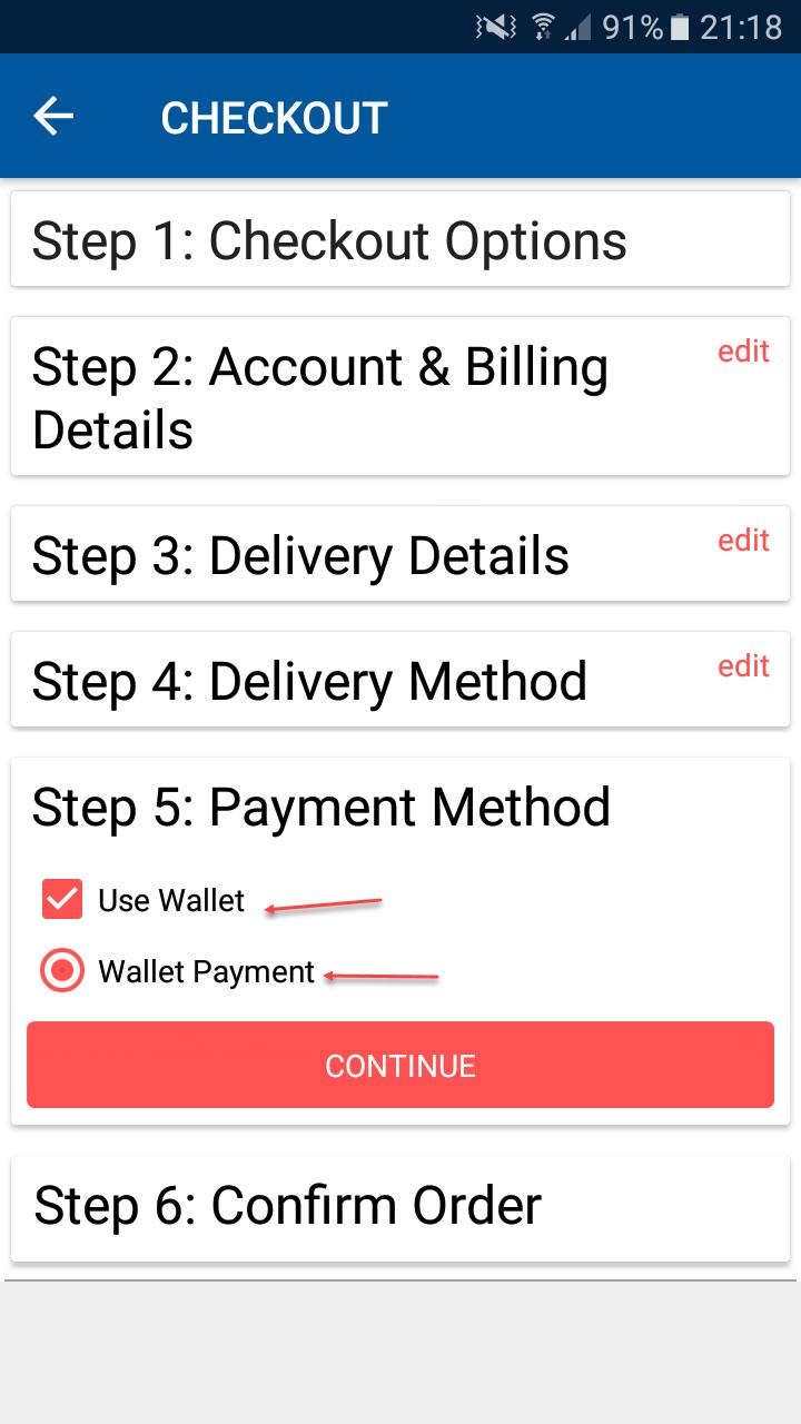OpenCart Mobikul Mobile App - Choose Paymemt Method