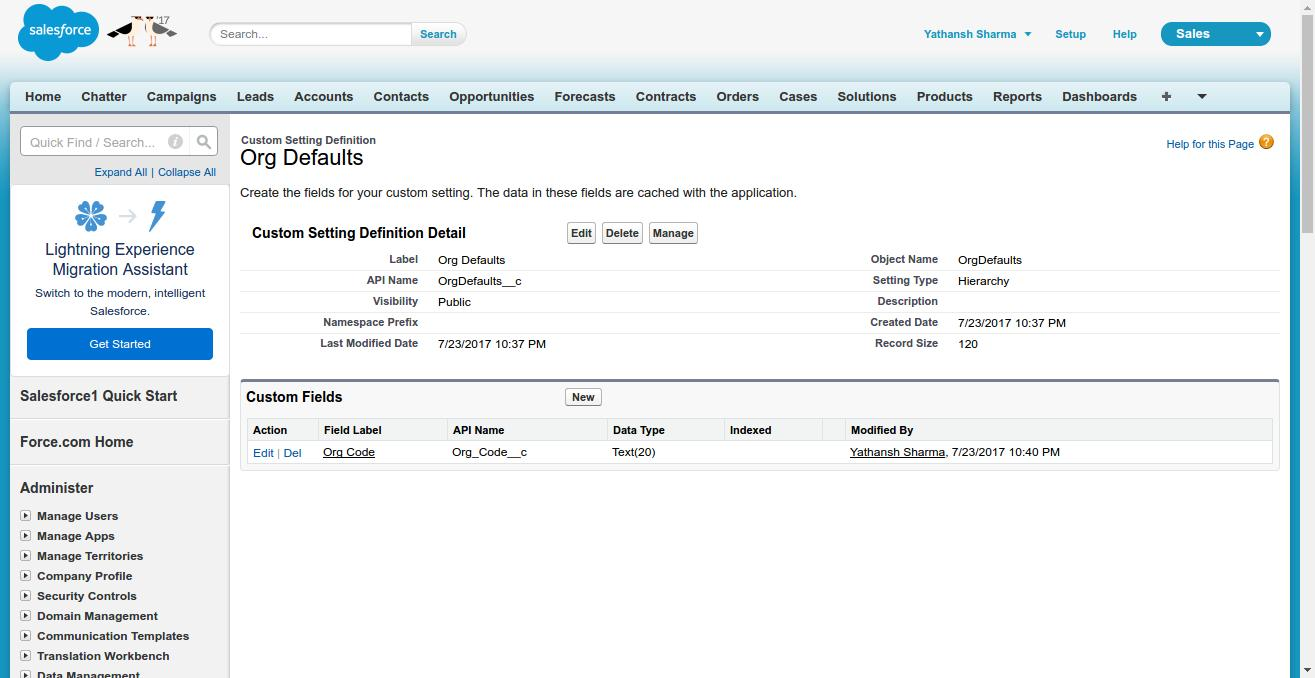 How to use Custom Settings in Salesforce to store information