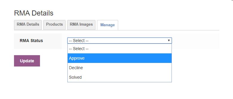 Marketplace Product RMA-manage