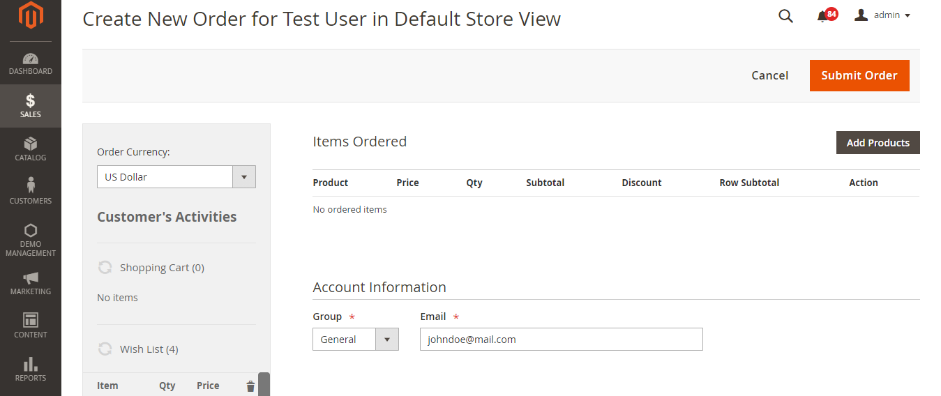 New-Order-Orders-Operations-Sales-Magento-Admin-1