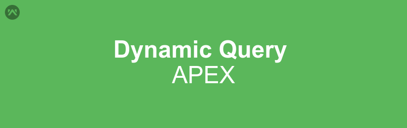 How to execute a dynamic query in APEX with the help of