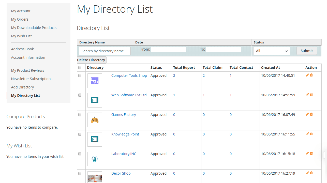 Magento 2 Business Directory List