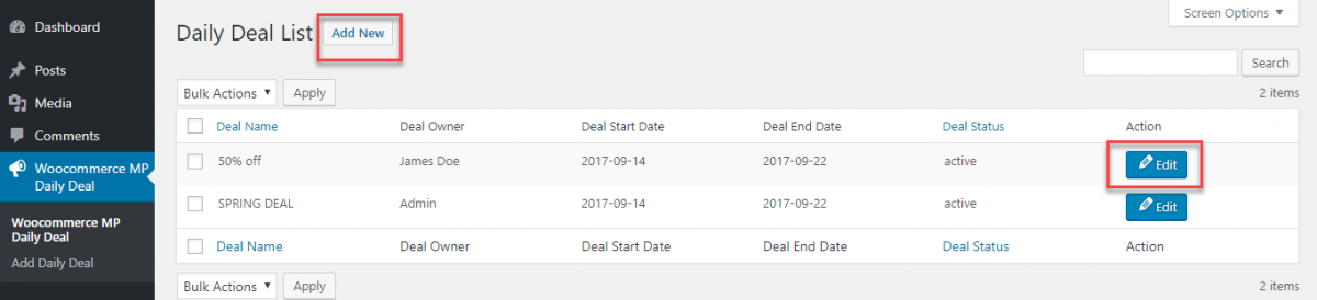 manage deal daily