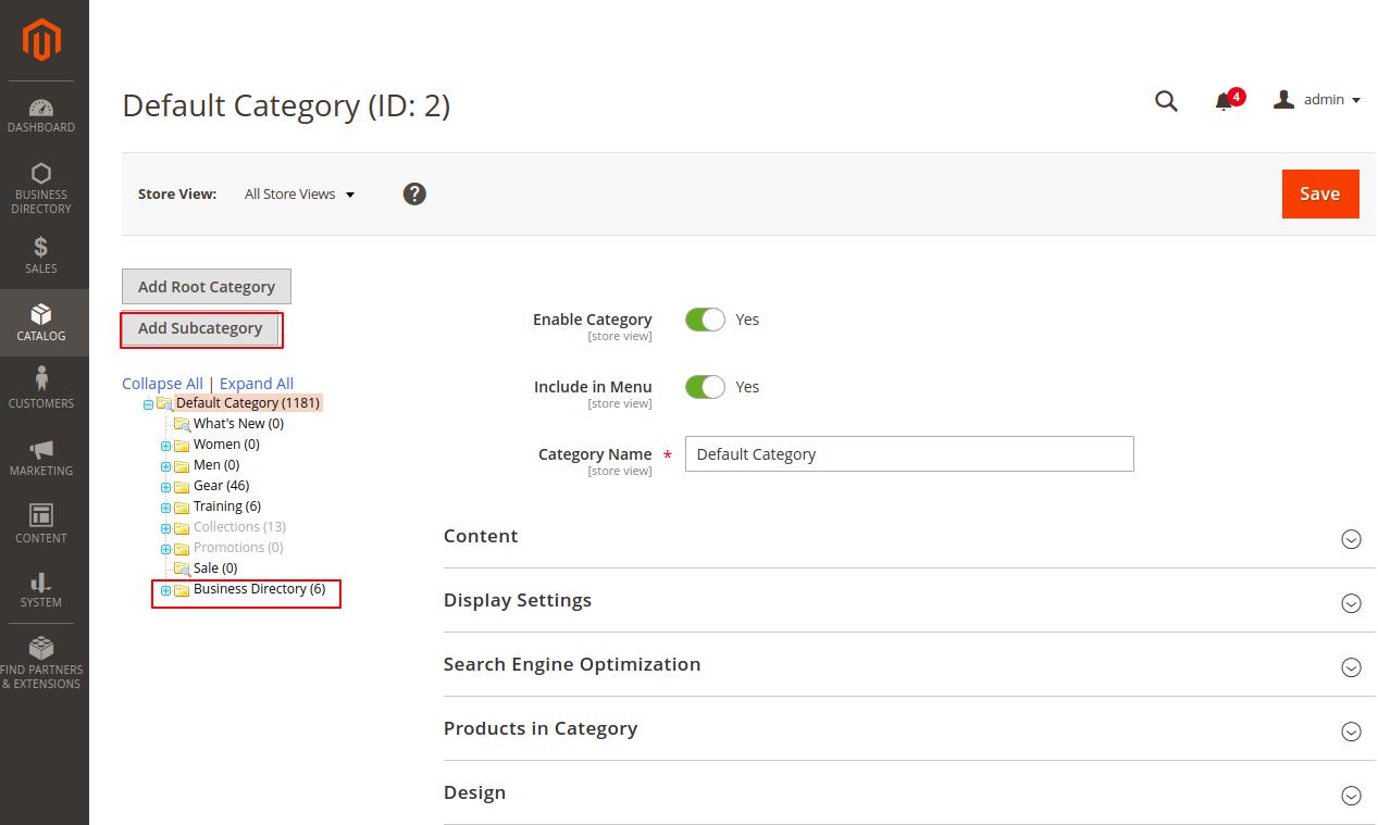Webkul-magento-2-business-directory-module-category