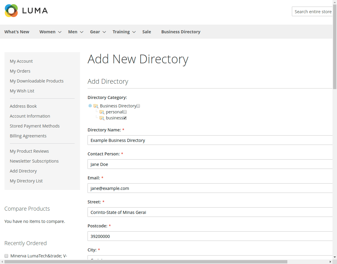 Business Directory - add_new_directory