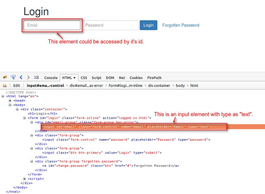Performing Events in Selenium WebDriver (click, sendkeys to