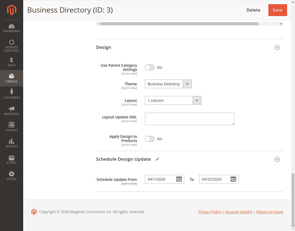 Business Directory - Design