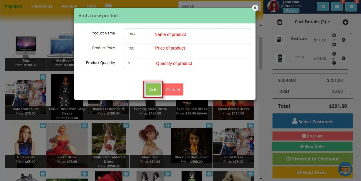 Opencart Marketplace Point of Sale System (POS)