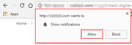 Allow Chat Notifications