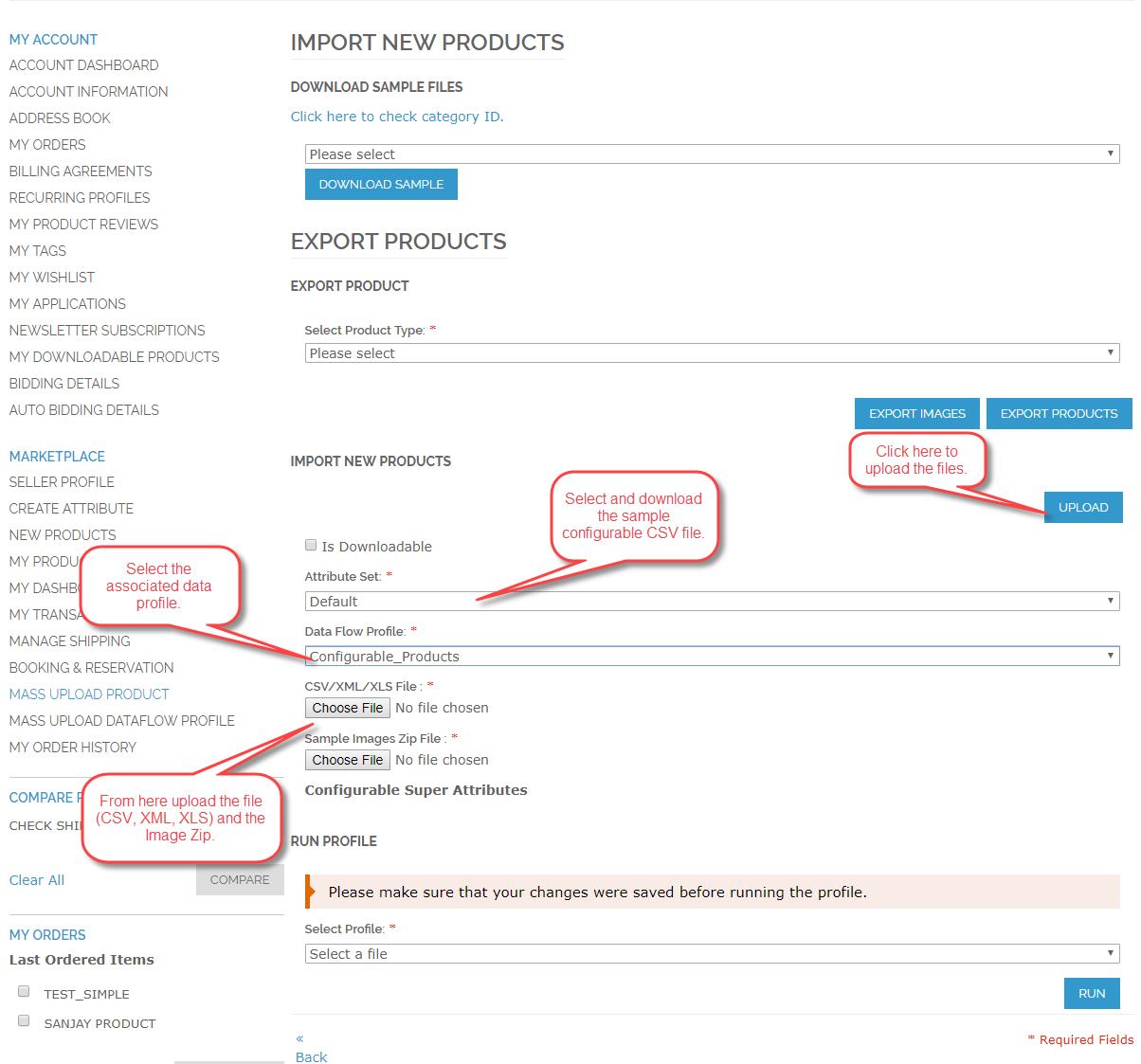 Configurable Product Upload