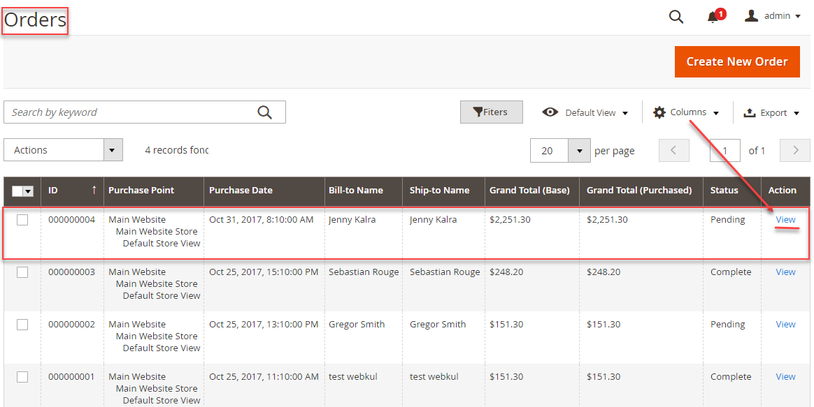 Webkul-magento2-fastway-shipping-Admin-Management-Orders