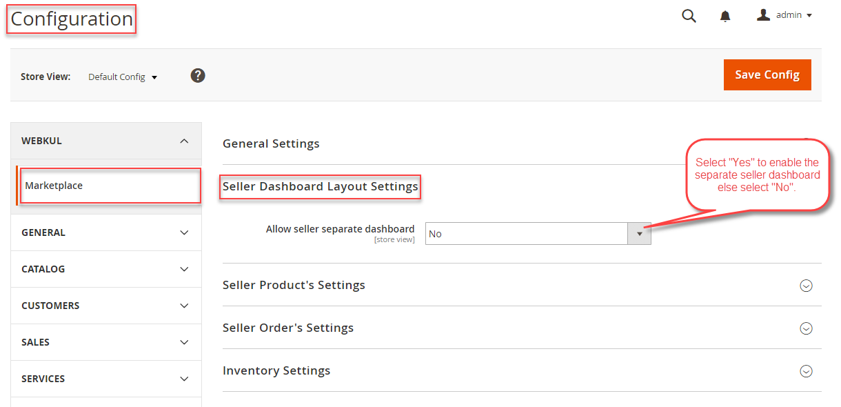 Seller-Dashboard-Setting-Configuration