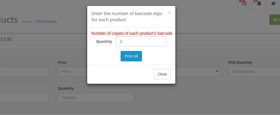 enter the number of barcodes to generate