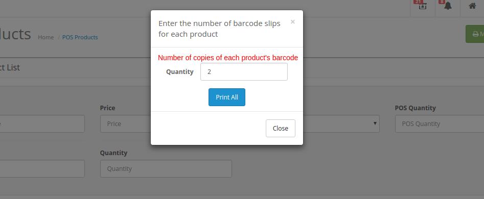 mass print barcode popup