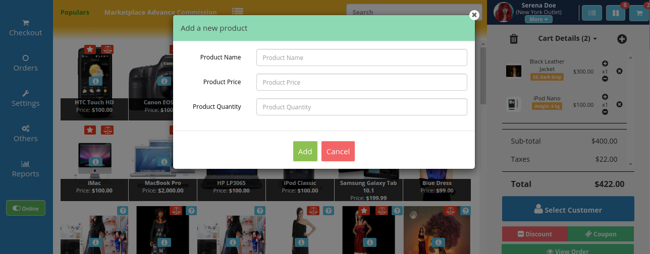 webkul-opencart-pos-admin-add-products-to-cart-1