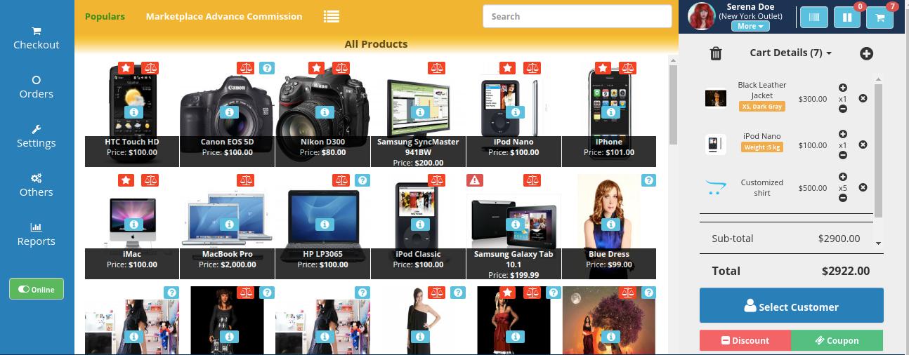 webkul-opencart-pos-admin-custom-price-of-the-product