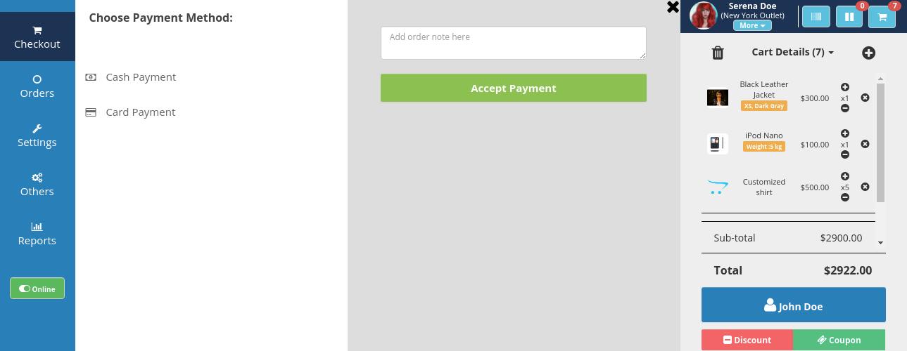 webkul-opencart-pos-admin-payment-method