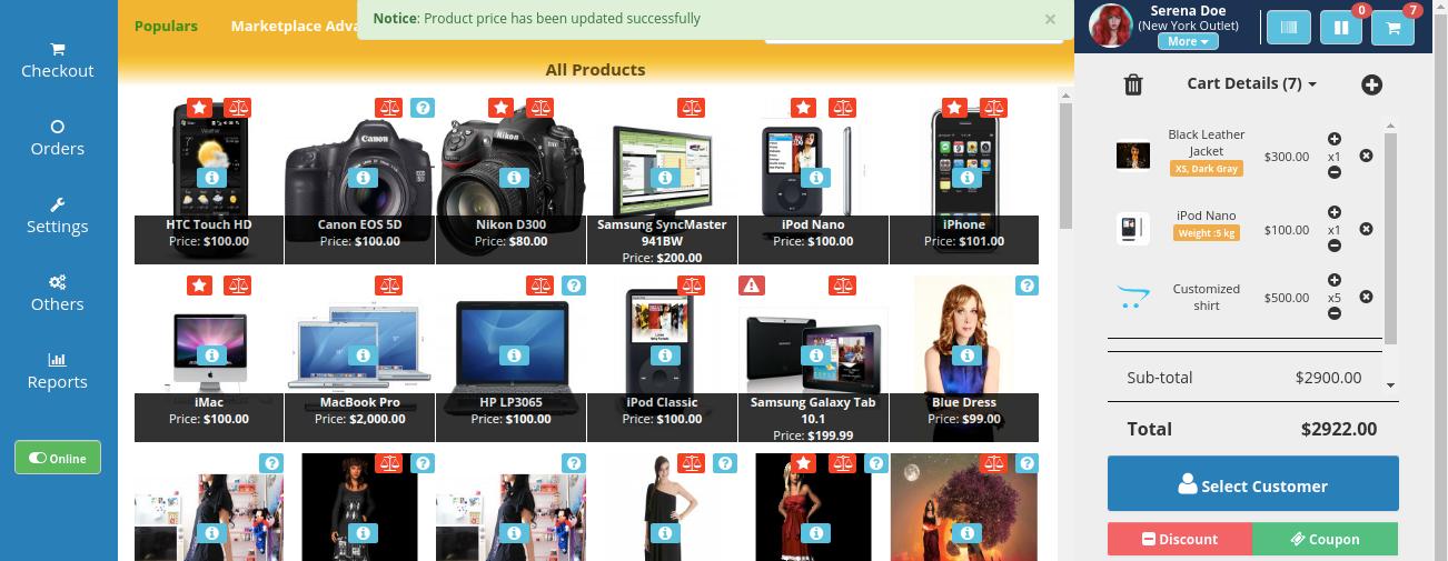 webkul-opencart-pos-admin-show-cutomized-price-1