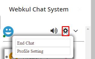 seller chat settings