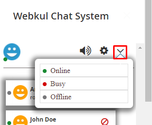 seller chat status