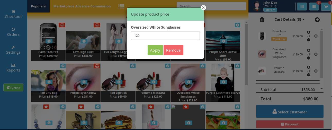 webkul-opencart-pos-set-new-price