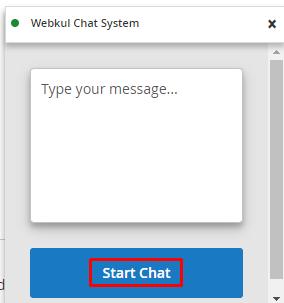 start chat button