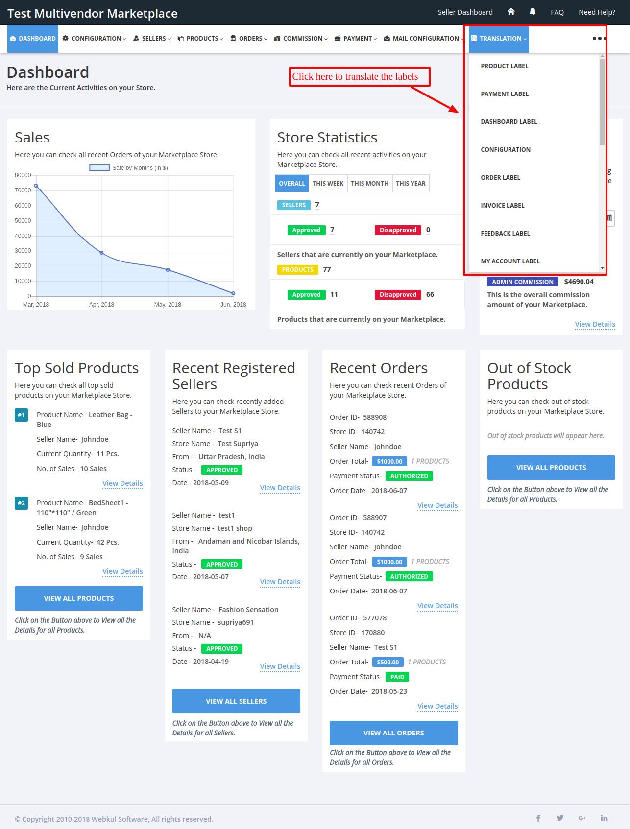 Translate Labels Multivendor Marketplace for Shopify by Webkul