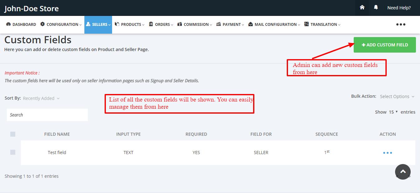 Custom Fields Multivendor Marketplace for Shopify by Webkul
