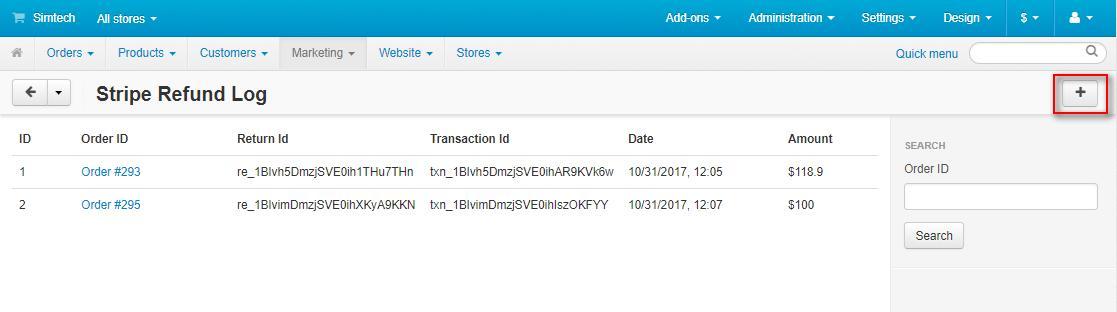 Refund logs 1 of cs-cart stripe payment gateway
