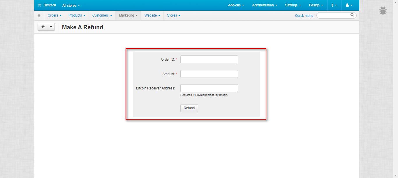 Refund logs 2 of cs-cart stripe payment gateway