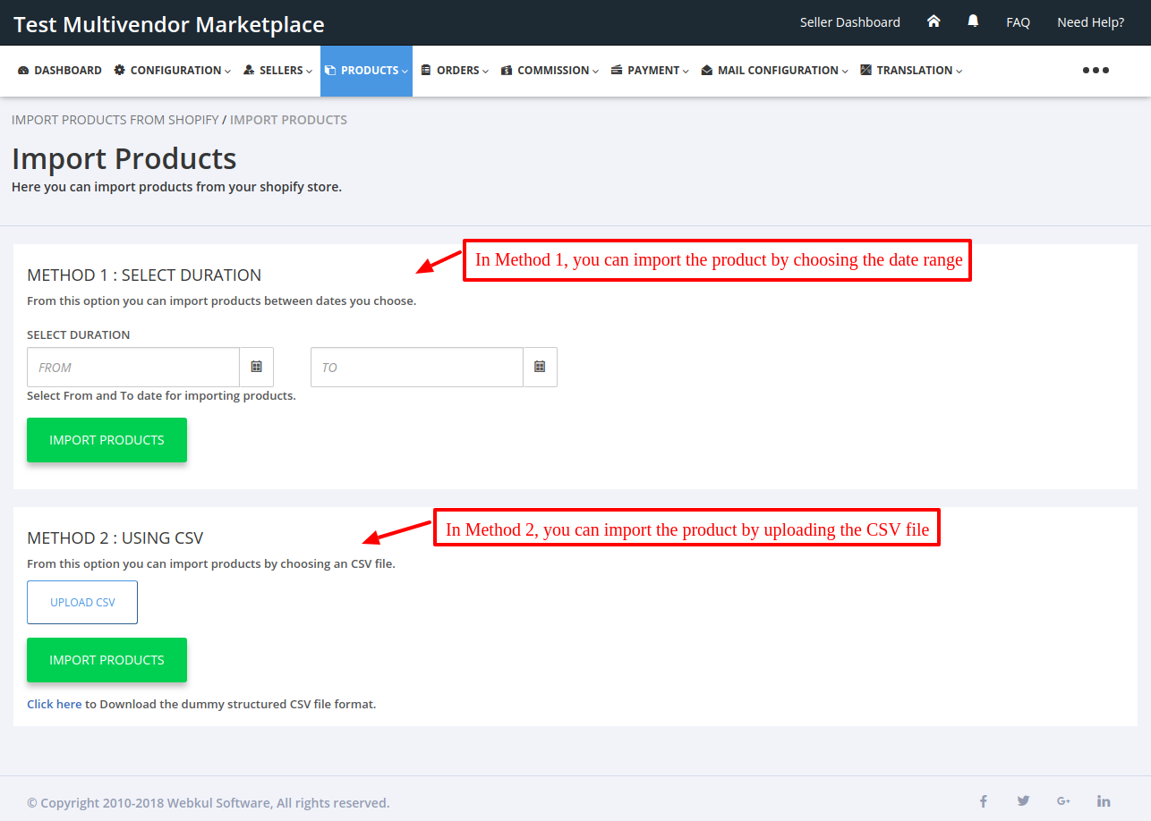 Import Now Multivendor Marketplace for Shopify by Webkul