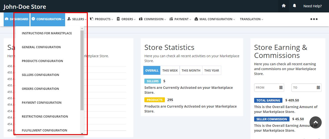 Configuration Multivendor Marketplace for Shopify by Webkul