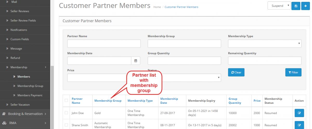 customer partner members