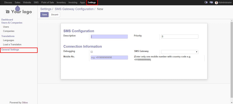 MSG91 Gateway   Odoo SMS MSG91 Gateway   SMS Integration