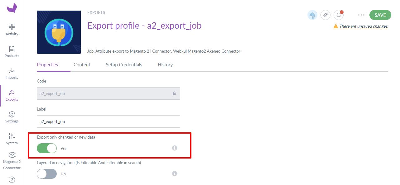 export job