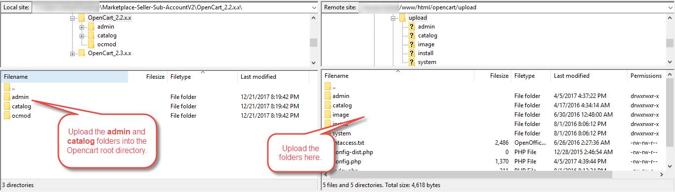 Module Installation OpenCart Marketplace Vendor Sub Account