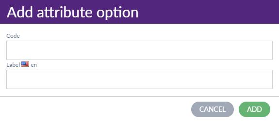 Add attribute option