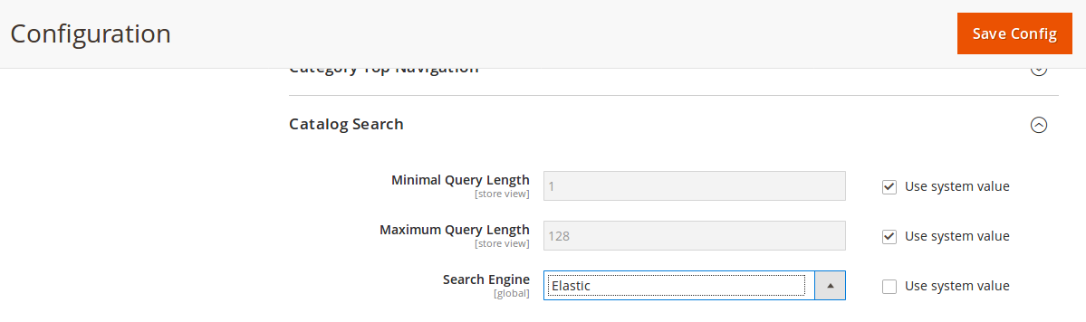 search engine option added