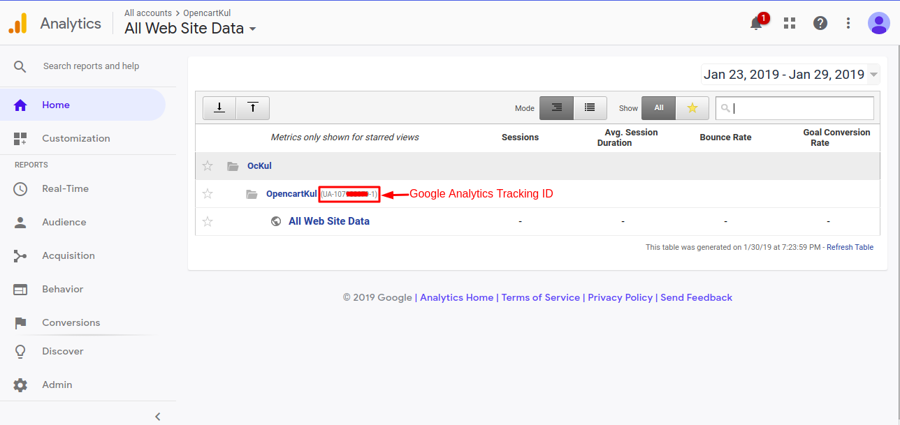 Deploy Google Analytics