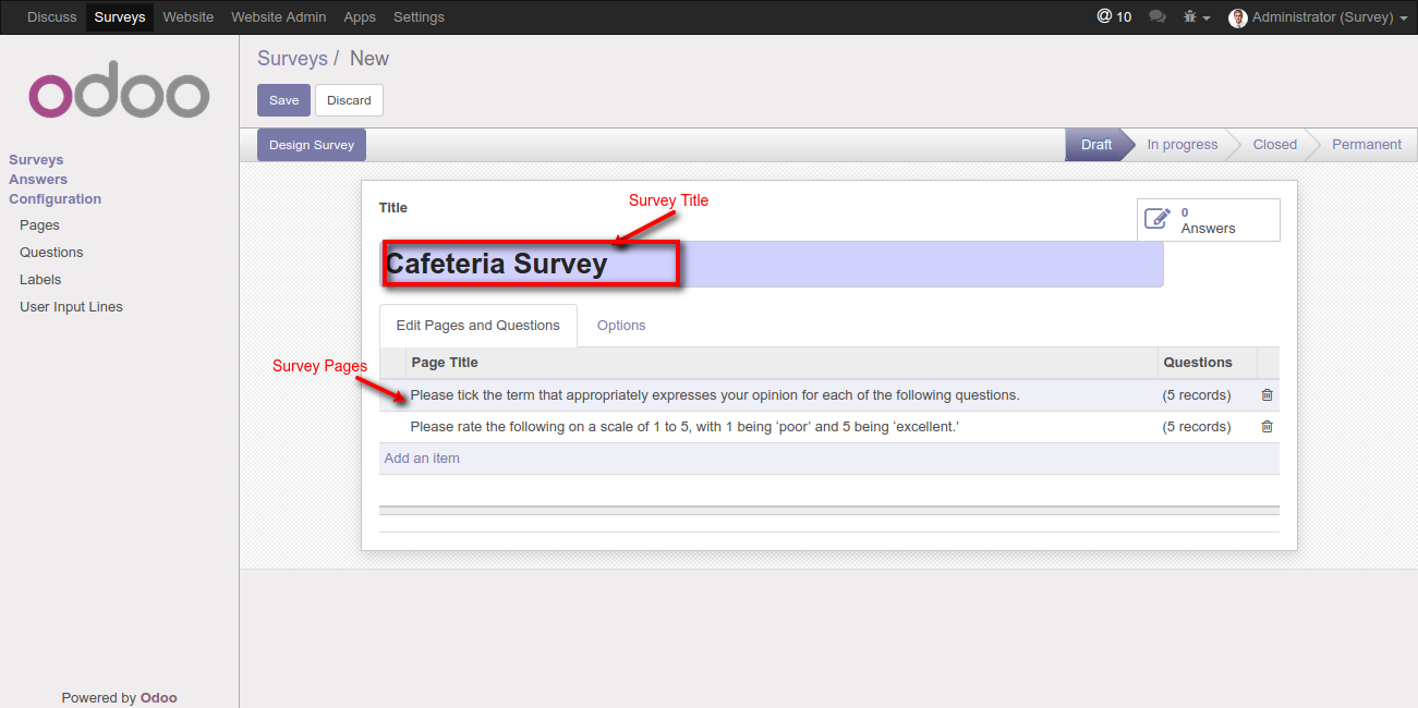 Odoo Website Advanced Survey1