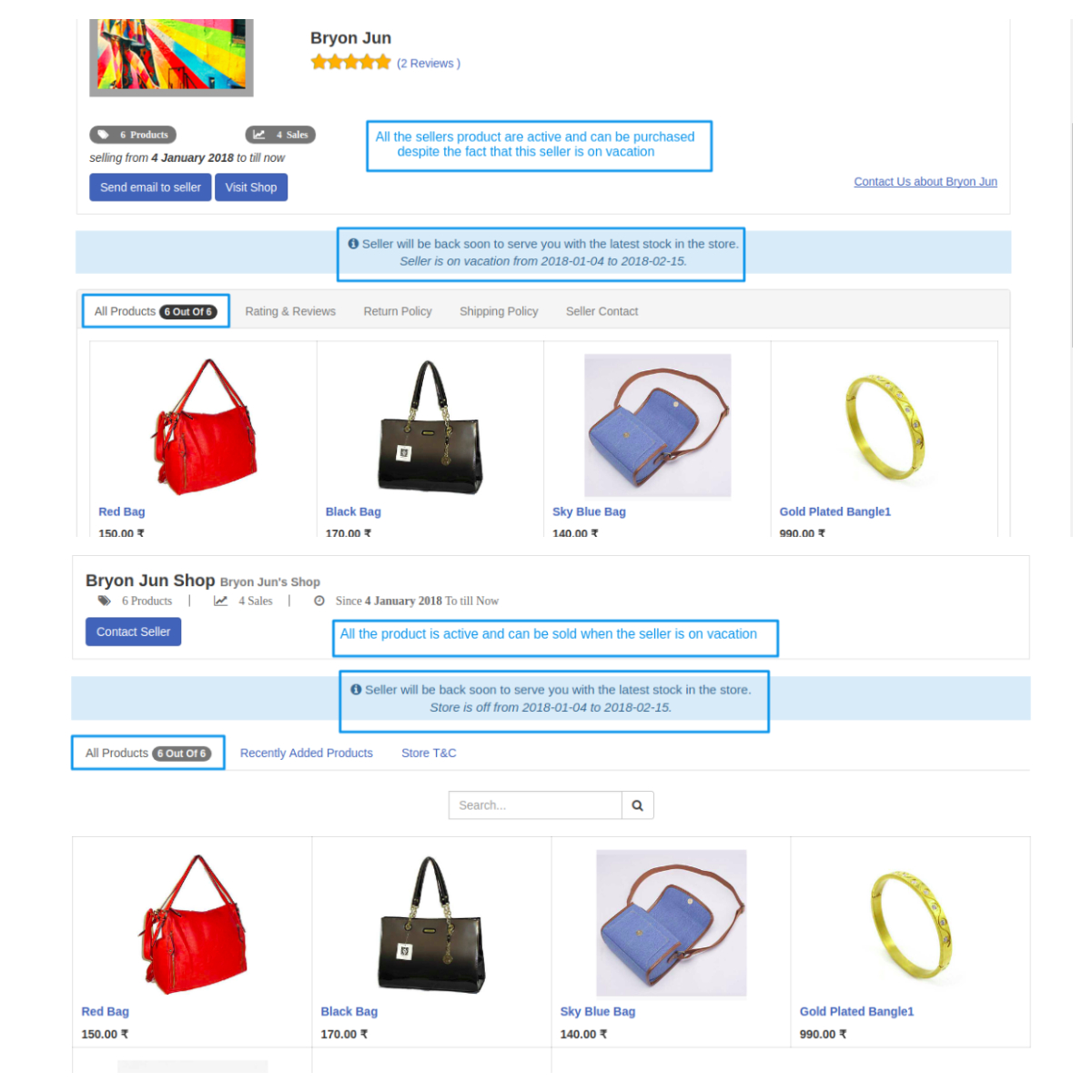 seller page