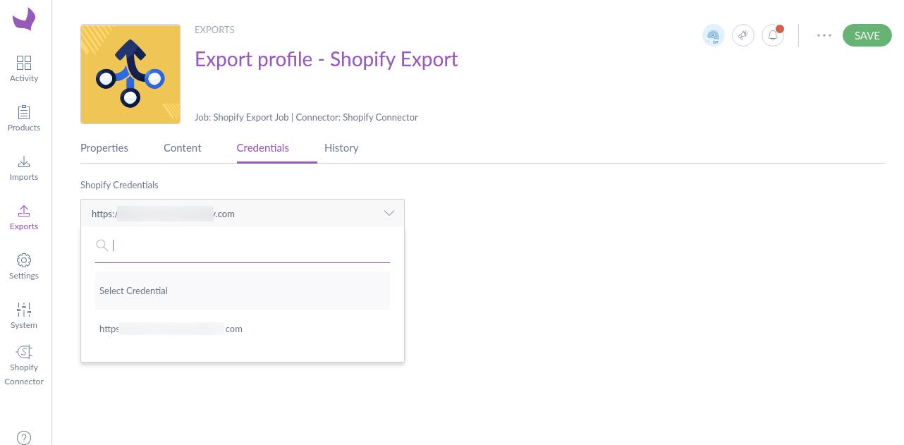 Export-profile-Shopify-Export-Edit