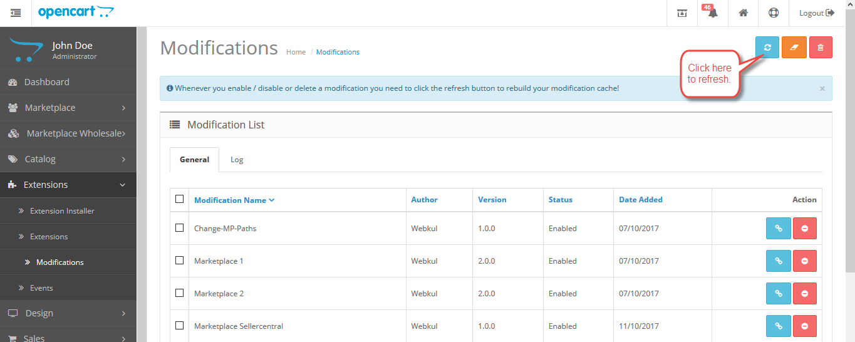 OpenCart Marketplace Vendor Sub Account Opencart Refresh