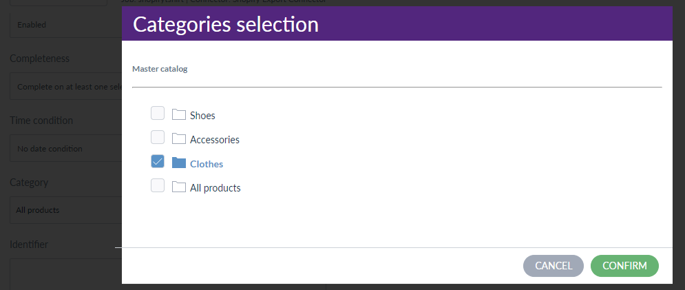 Filter the product with category
