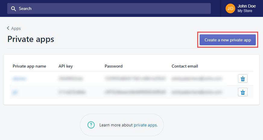 create private app